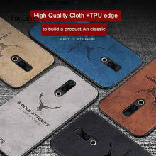 Cloth Cover Soft Silicone Edge Deer Pattern Fabric Capa For Meizu M16 Plus M16X V8 Pro X8 M8 M6 M5 Note M6S Coque Protect Case(China)