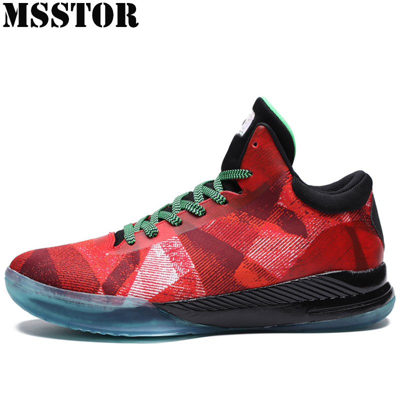 MSSTOR 2018 Men Basketball Shoes Outdoor Athletic Training Boots Man Brand Sports Mens Sneakers Breathable Sport Shoes For Men msstor 2018 men s running shoes man brand summer breathable mesh mens sneakers outdoor athletic sports run sport shoes for men