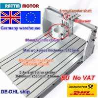 EU ship Free VAT 6040 CNC Router Milling Machine frame Ballscrew Mechanical Kit Screw Aluminum 80mm Spindle motor Clamp for DIY