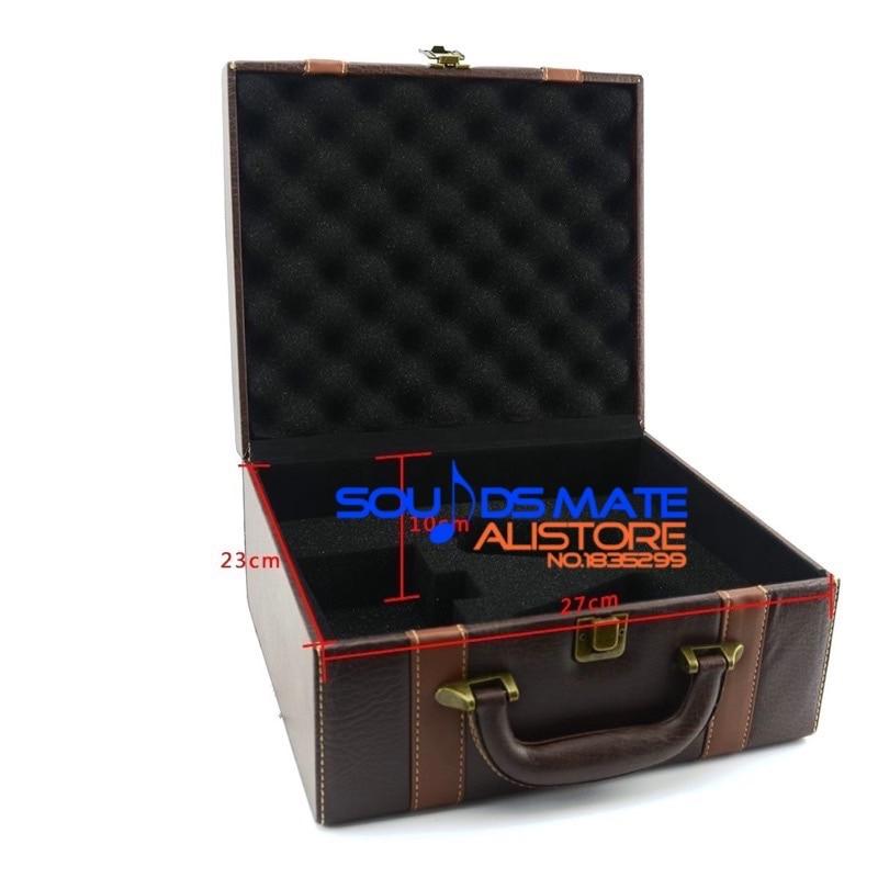 Retro Leather Headphone Full Size Hard Large Carrying Case Hard For AKG Q701 K701 K702 K712 K601 K603 K612 K550 K551 K553 недорго, оригинальная цена