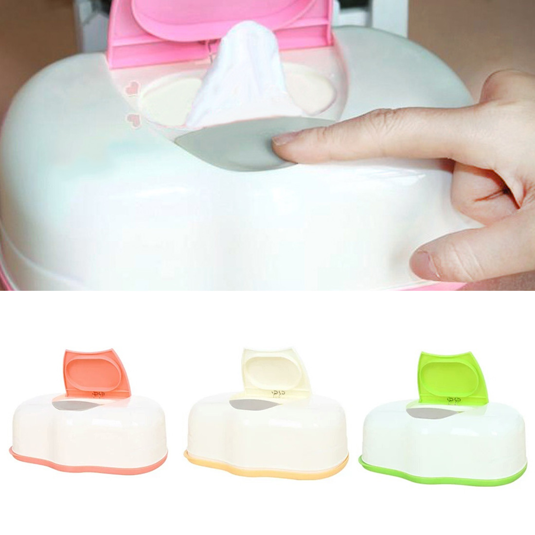 Plastic Wet Wipes Storage Case Box Container Refillable 80 Sheets