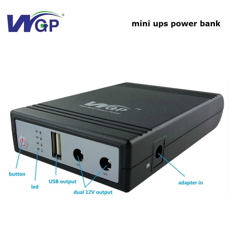 2018 портативный мини power bank 5 В 12 В Резервная аккумуляторная батарея 4400 мАч UPS powerbank для мобильного и маршрутизатор
