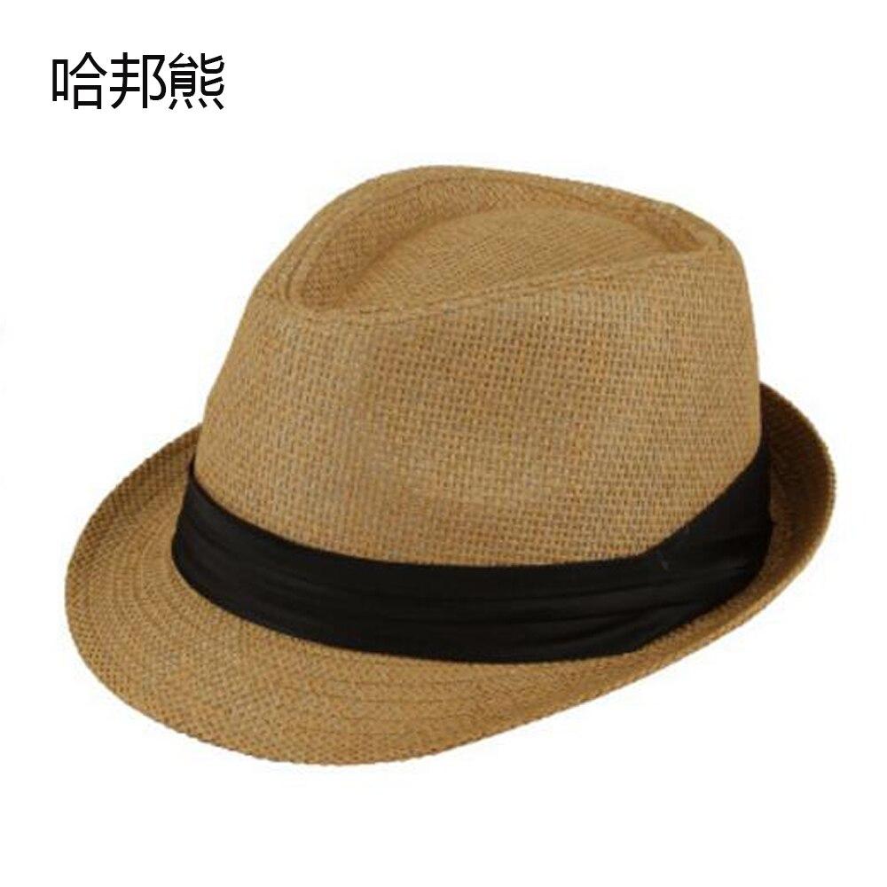 Uomini adulti Jazz Casuale Beach Fedora Trilby Gangster Cap Estate  cappellino di Paglia Cappello Panama Per Ragazzi Ragazze della Paglia Delle  Donne di ... 5d45ef7afd9d
