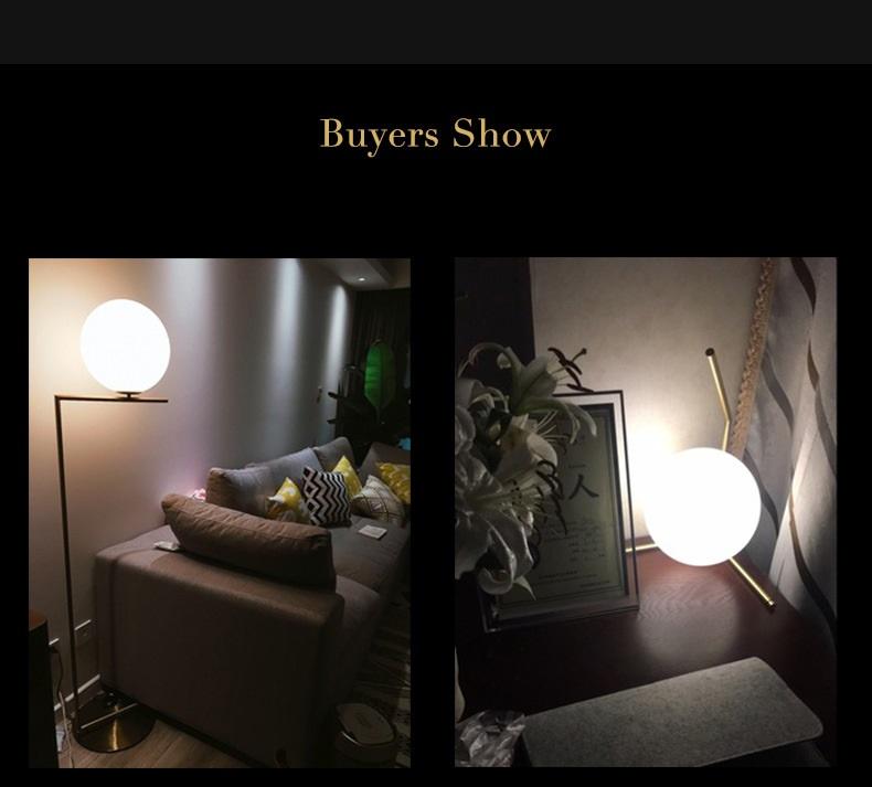 Modern LED Table Lamp Desk Lamp Light Shade Glass Ball Table Lamp Desk Light for Bedroom Living Room Floor Conner Gold Designs (18)
