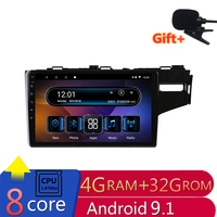 4G RAM 2.5D IPS 8 core Android 9.1 Car DVD Multimedia Player GPS For honda Fit jazz Right driving 2014 15 2018 radio navigation