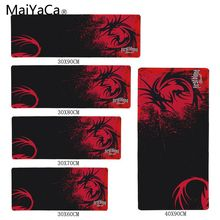 MaiYaCa Speed Version of E-sports game mouse pad Anti-skid Wear Size 31x75cm and 40x90cm For Red Dragon Logo Wallpaper