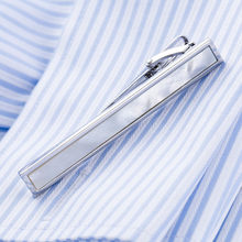VAGULA Hot Sale Natural Mother Pearl Tie Bar Quality Sea Shell Tie Pin Business Corbata Tie Clip 30(China)