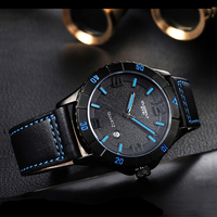 EYKI Brand Men's Sport Watches Japanese Movement Waterproof Leather Strap Quartz Watch Hour Date Calendar Watch Relojes Hombre