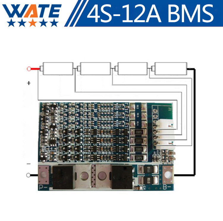 Free shipping 4S 14.8V 16.8V 18650 battery protection board 4 string 12A lithium battery protection board high current micro 5v 1a usb 18650 lithium battery charging board module protection new sell r179t drop shipping