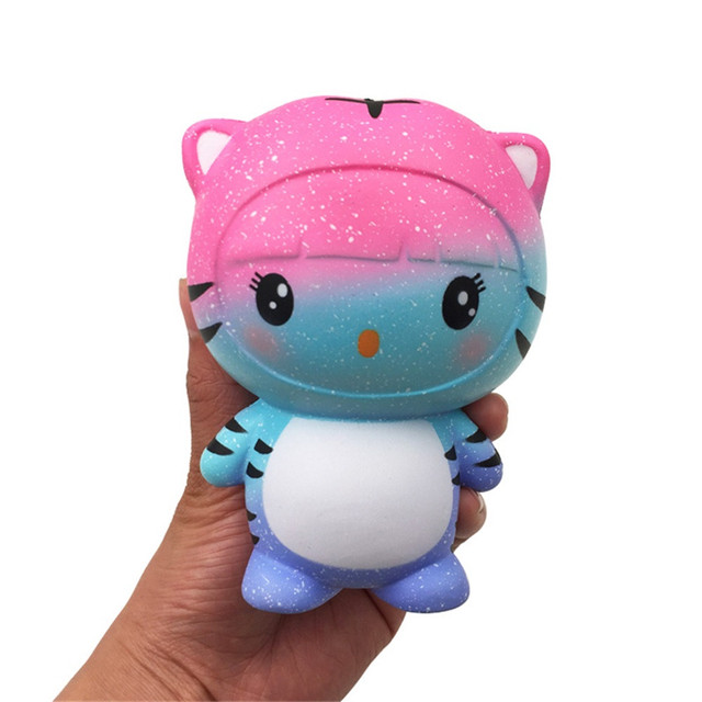 2018 New Fashion Squishy Colourful Tiger Scented Charm Slow Rising Squeeze Stress Reliever Toy With High Quality Hot Sale Kid#
