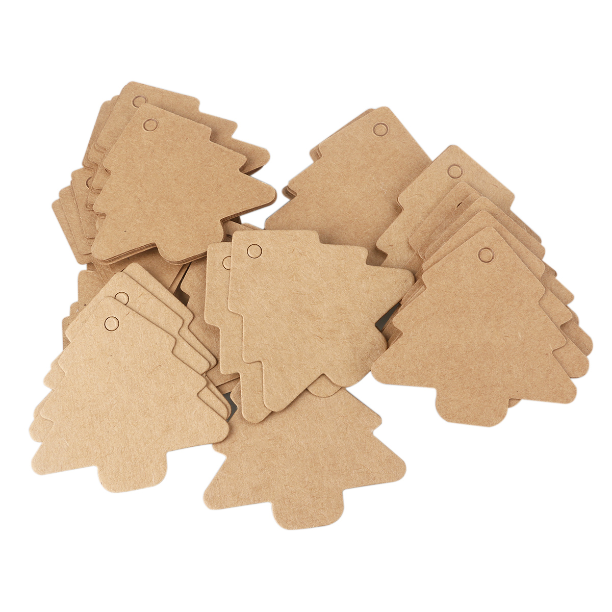 25pcs Scalloped Kraft Paper Gift Tag With Scalloped Edge