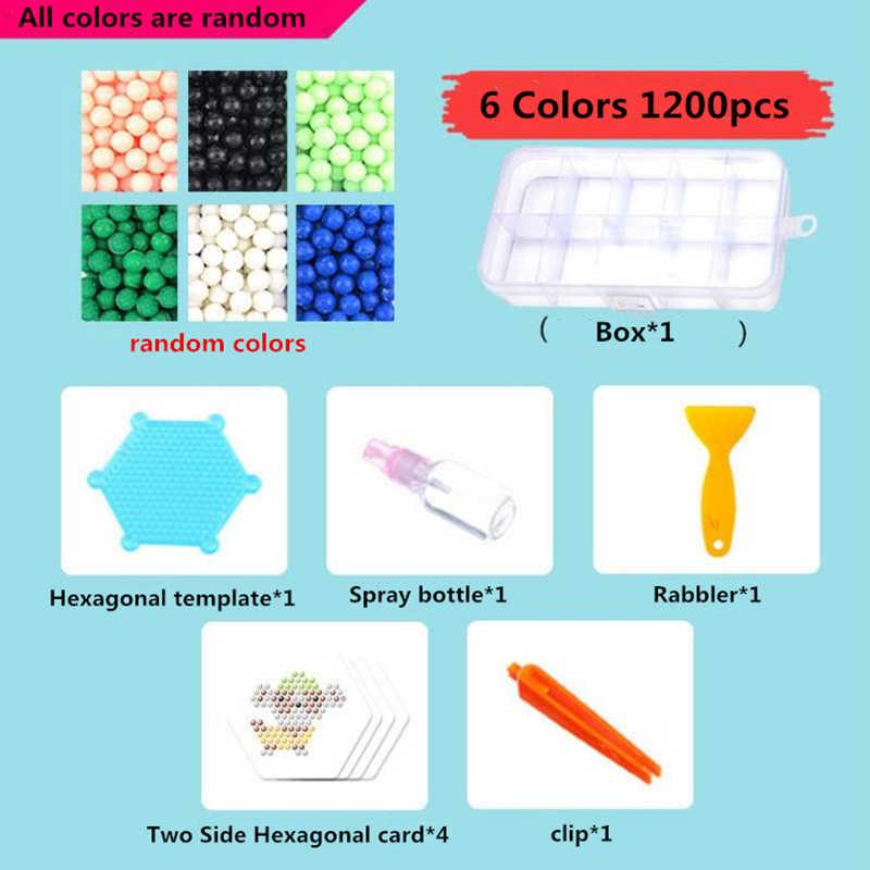 24 цвета 3600 шт 5 мм волшебные шарики Набор DIY 3d Пазлы набор игрушек Хама водяной перлер бусины Новогодний подарок развивающие необычные детские игрушки