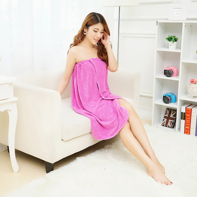 Vieruodis Women Sexy Bath Towel Wearable Beach Towel Soft Beach Wrap Skirt Super Absorbent Bath Gown Quick Dry Towel