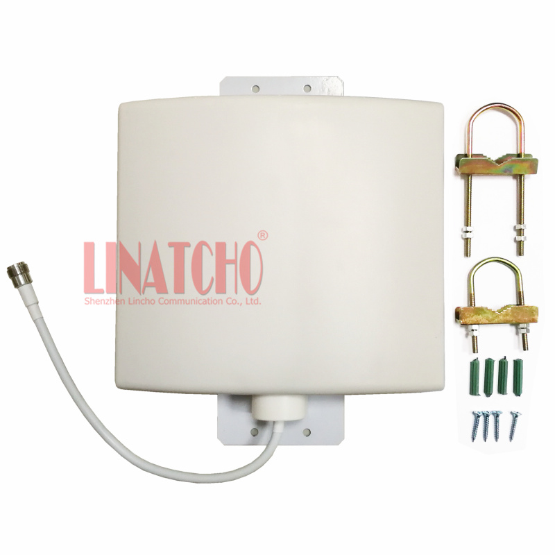 Outdoor Waterproof 12dBi 800 2700MHz GSM 3G WIFI LTE 4G signal repeater directional flat panel antenna