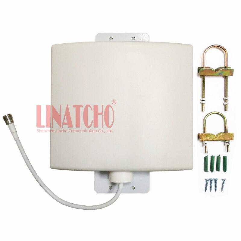 Antenne à panneau plat directionnelle imperméable extérieure de répéteur de signal de 12dBi 800-2700 MHz GSM 3G WIFI LTE 4G