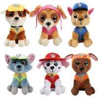 6pcs/set Paw Patrol Dog Plush Doll Anime Kids Toys Action Figure Plush Doll Model Stuffed and Plush Animals Toy gift