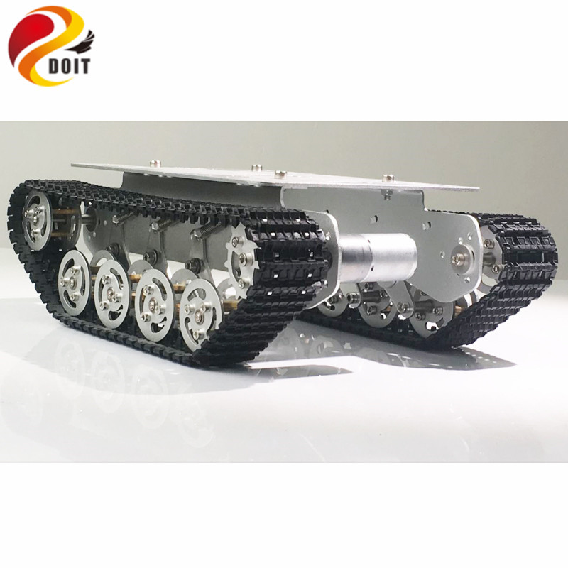DOIT TS100 Damping Tank Chassis Robot Car with Solid Structure for Robot Project DIY RC Toy