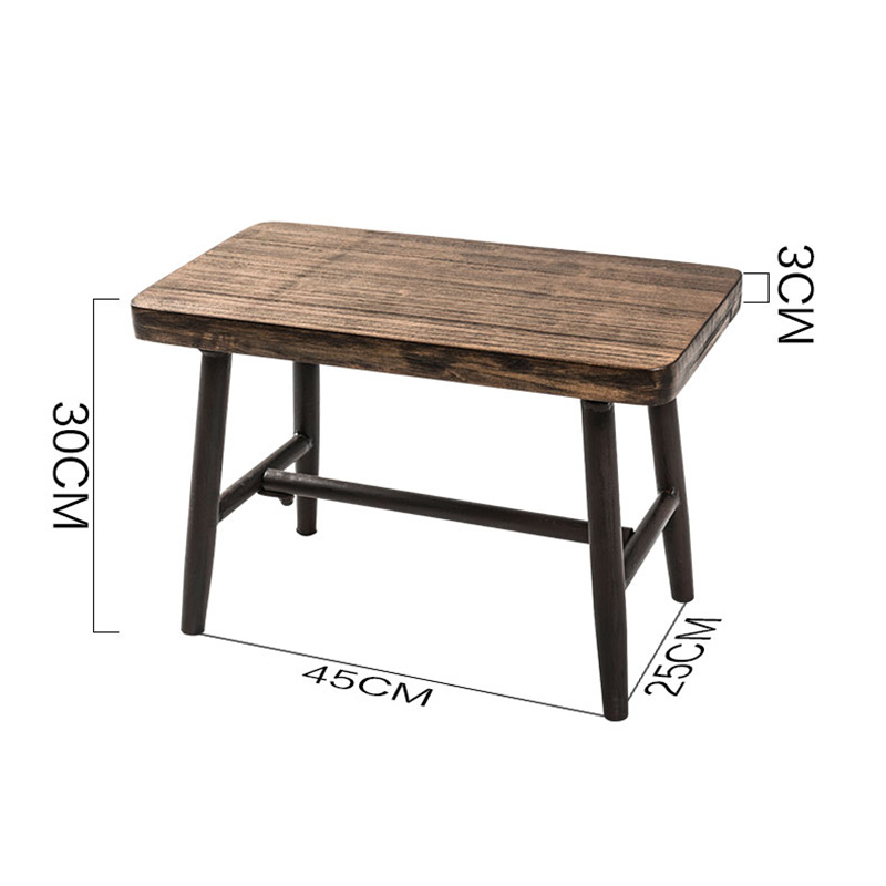 Groovy Us 133 24 35 Off 2019 Modern Minimalist Solid Wood Tea Table Stool Shoes Wooden Tea Making Rectangular Stool Murals Furnishing Home Decoration In Machost Co Dining Chair Design Ideas Machostcouk