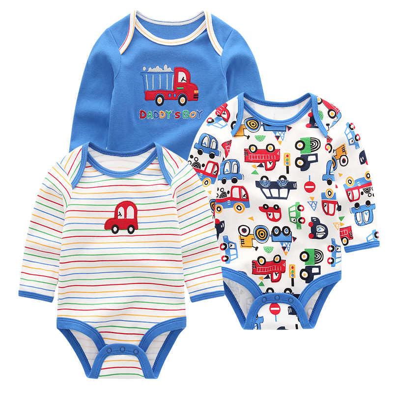 Pasgeboren kleding zomer 3 stuks lange mouw roupa menina baby body baby Kleding Sets
