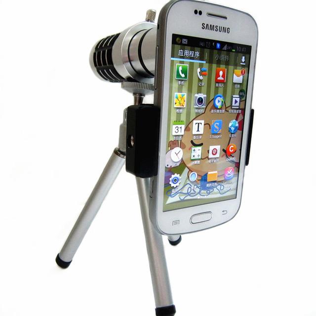 12x zoom telescopio del teléfono móvil de ojo de pez Universal clip ajustable para iphone5 6 huawei p9 samsungs7 s7edge nota xiaomi m5 7 caso