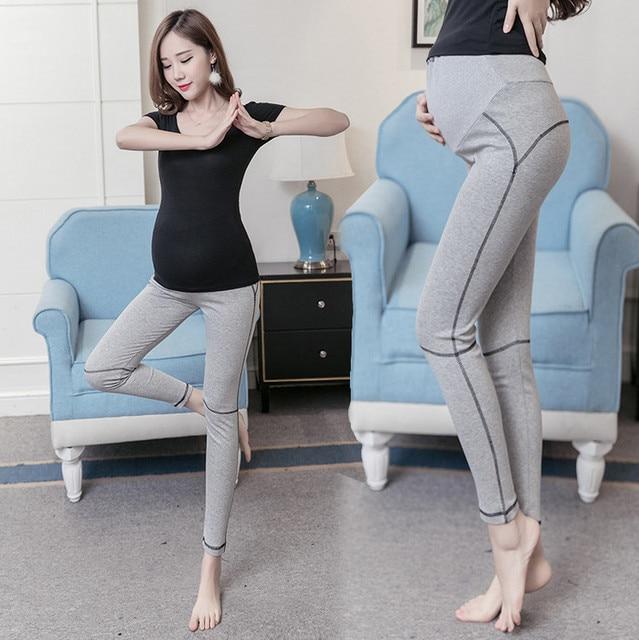 3c4ecfc2eaf33 Fitness Plus Size Women Yoga Pants Autumn Solid Modal Elastic Pregnant  Women Pants Maternity Legging Pregnancy
