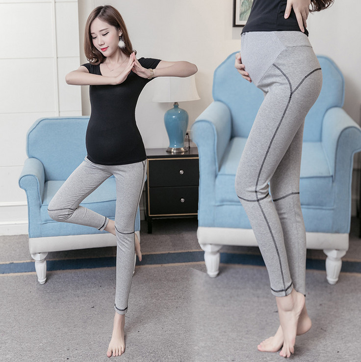 Fitness Plus Size Women Yoga Pants Autumn Solid Modal Elastic Pregnant Women Pants Mater ...