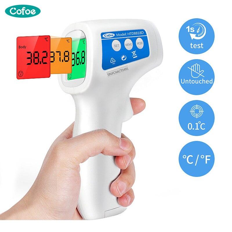 Cofoe Stirn Digitale Infrarot Thermometer Tragbare Nicht-kontaktieren Termometro Pistole Baby/Erwachsene Körper Temperatur Messung Gerät
