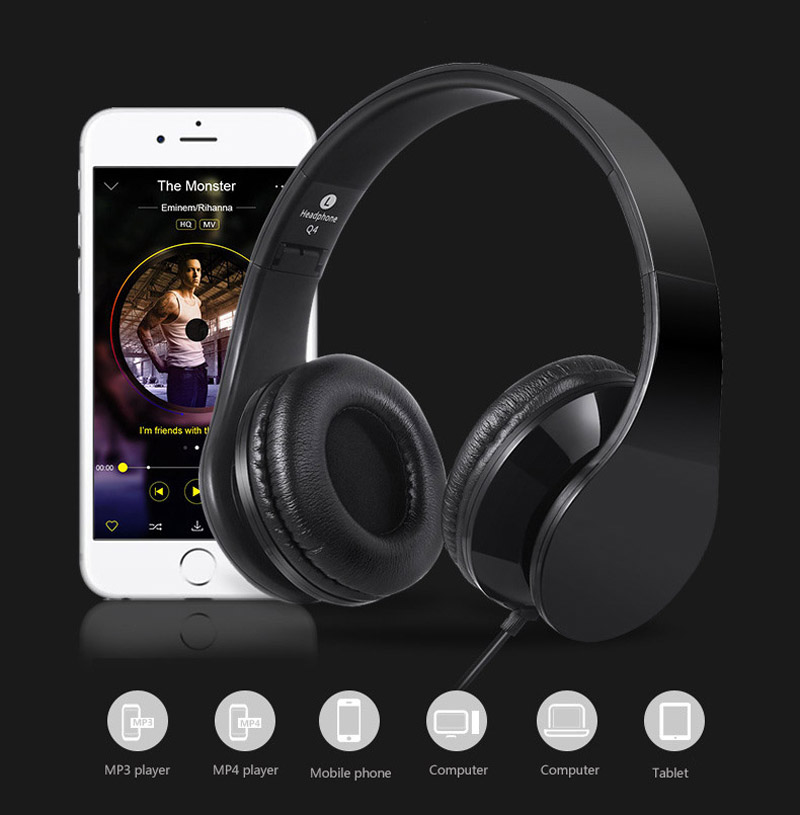 Children Headphone Foldable Child Kids Earphone Headset Wire Control Wired Phone boy girl headset with Microphone kid headset