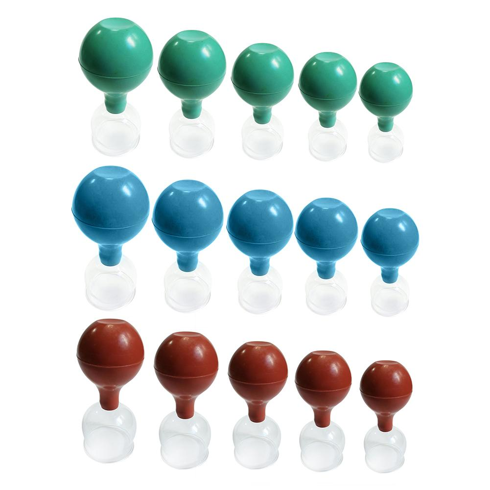 5pcs/Set Body Massage Therapy Cupping Rubber Ball Vacuum Cupping Rubber Ball Glass Cupping Ball Universal Pumping Ball