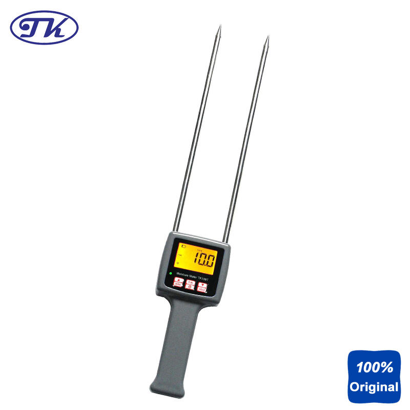 Digital Tobacco Moisture Content Meter Tester 8-40% TK100T high precision digital electric moisture meter wood timber plank humidity moisture content tester gauge with 11mm probe vc2ga