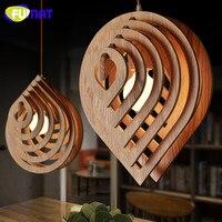 Фумат Nordic Подвесная лампа дизайнер Книги по искусству лампа столовая подвесной светильник Гостиная твердой древесины капли воды подвесной