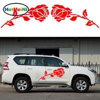 HotMeiNi 2x Romantic Rose Pattern Love Theme Car Sticker Caravan Travel Trailer Campervan SUV Kit Vinyl Decals Valentine's Day