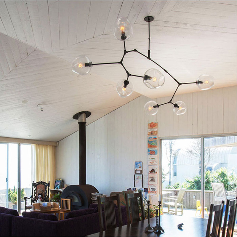 Free Shipping Modern Tree Branches Gold/Black Chandelier Lights 3/5/6 Arms Dining  Room Molecular Formula Lights In Chandeliers From Lights U0026 Lighting On ...
