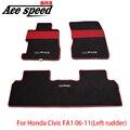 Velocidade Ace-Para Mugen tapetes Tapete Do Carro Apto Para Honda Civic FA1 06-11 leme Esquerdo FN2 07-11 RHD
