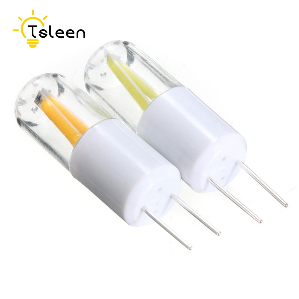 TSLEEN Mini G4 G9 LED Lamp Dimmable Filament Bulb Clear Chandelier Light Replace Cool Warm White