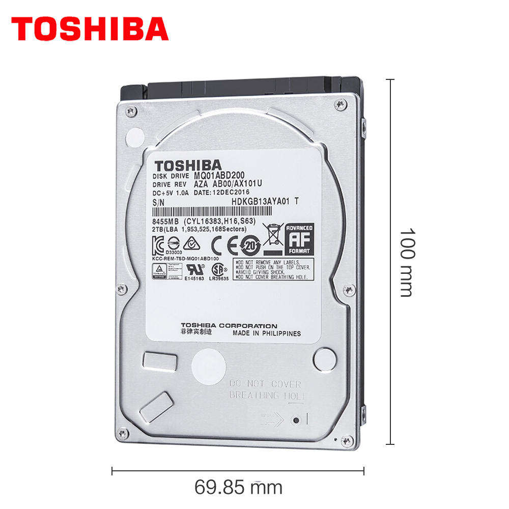 "TOSHIBA 3TB Internal Hard Drive Disk HDD HD 2.5"" Laptop Notebook 15mm Height Thickness SATA 3 6.0Gb/s 5400 RPM"