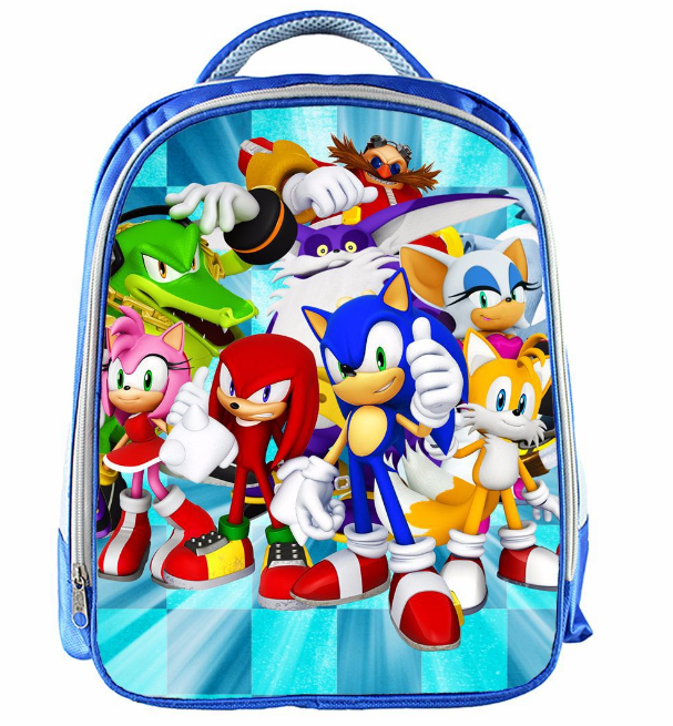 13 Inch Cartoon Sonic Backpack 14