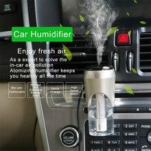 CARGOOL Mini Car Humidifier Portable Essential Oil Diffuser Auto Air Purifier Dual-USB Charger 360 Degree Rotation
