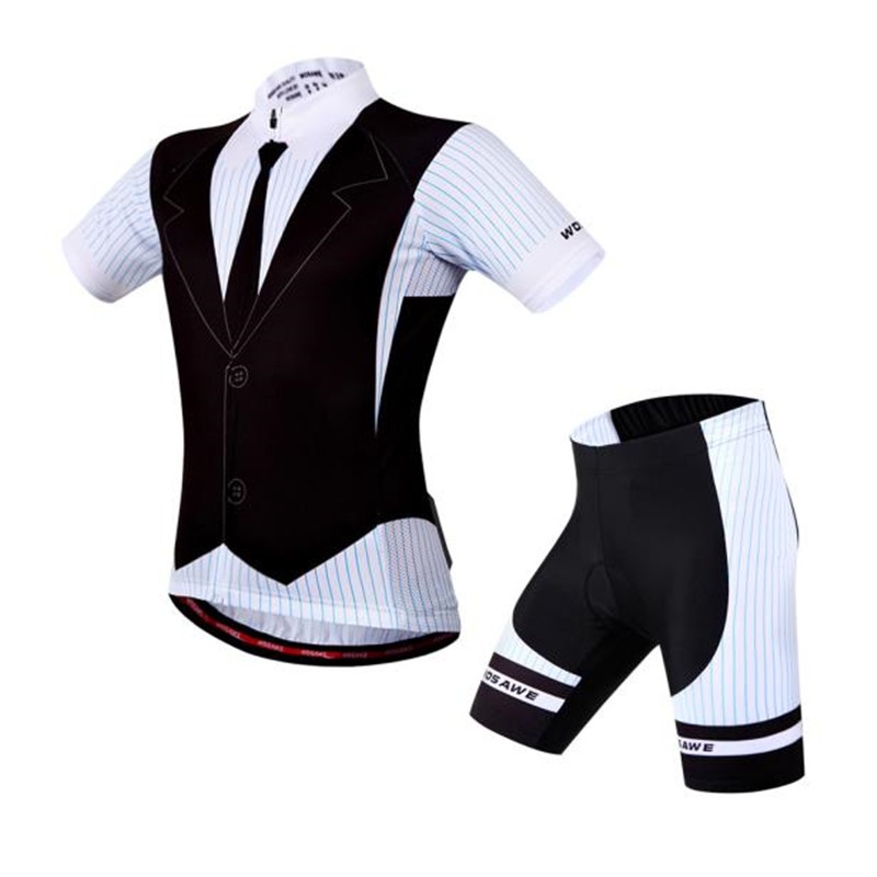 WOSAWE New Unisex Gel Pad Cycling Jersey Short Sleeve Medium Bike Suit Tie Colorado Vest Pro-Legs Outdoor Equipment S-XXL M20