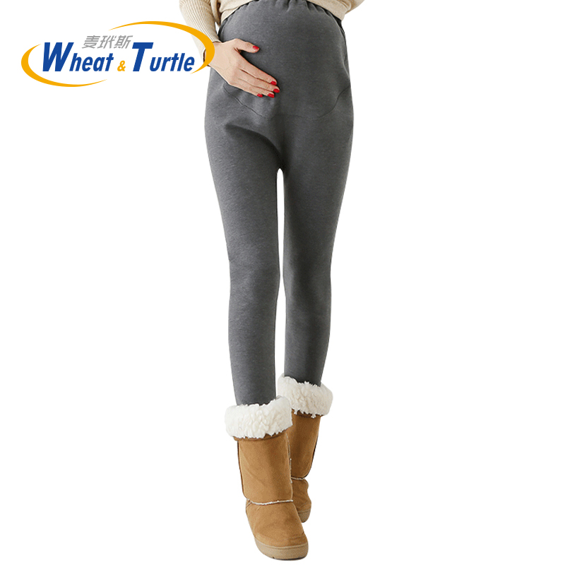 2017 Hot SaleThicken Velvet  Maternity Winter Leggings Good Quality Thicken Flannel Skinny Warm Leggings For Pregnant Women