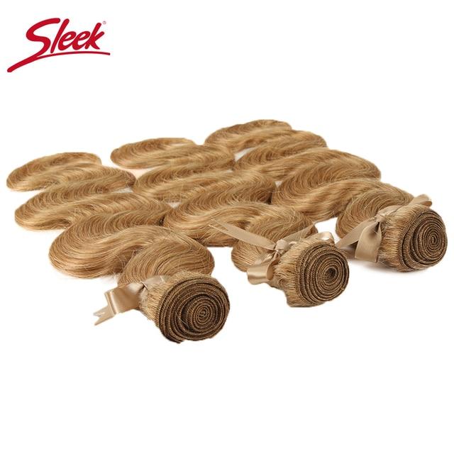 Extensiones de pelo ondulado de color rubio de visón elegante 27 y 613 de cuerpo brasileño extensiones de pelo ondulado de 10 a 26 pulgadas envío gratis