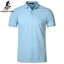 3ecd0cb02 Pionner Camp men polo Shirt Men Business Casual solid male polo shirt Short  Sleeve High quality