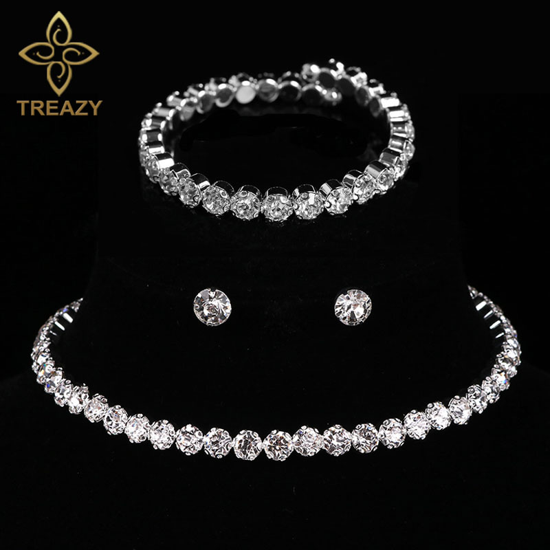 Bridal Jewelry Sets Silver Color