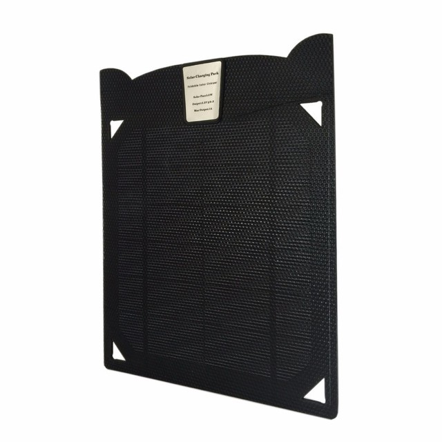 5V5W Single USB Solar Charger Portable Solar Cell Panel Battery for SAMSUNG S6,S7,S8,S7EDGE,S8PLUS, for all android interface