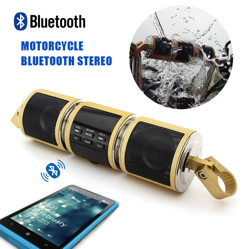2016 New Metal Waterproof Bluetooth MP3 Player Stereo
