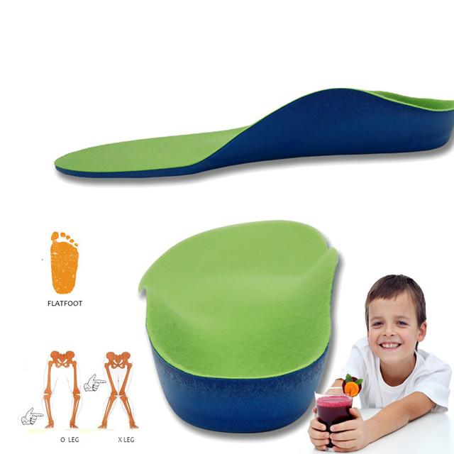 Crianças Pé Plano Palmilhas Ortopédicas para Crianças Ortopédicos Arch Suporte Pads Correção de Saúde Cuidados Com Os Pés Palmilha de Sapato Acessórios