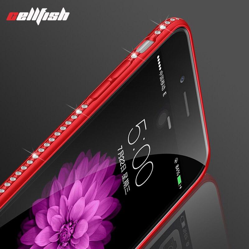 Luxury Rhinestone Case for coque iPhone 6 6s 7 8 Plus Soft Silicone Glitter Cover for funda iPhone X diamond iPhone7 capinha