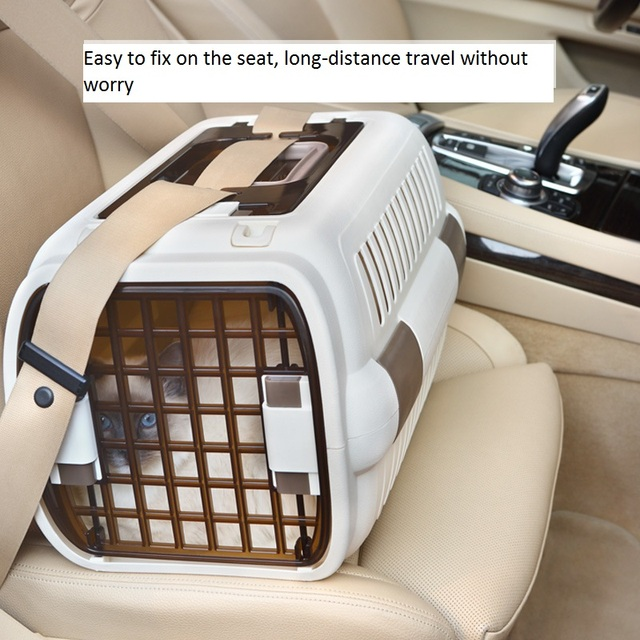 Cat Air Plane Transport Box Breathable Cat Puppy Dog Pet Travel Carrier Box For Cats And Small Dogs Pet Cat Cage WLYANG 4
