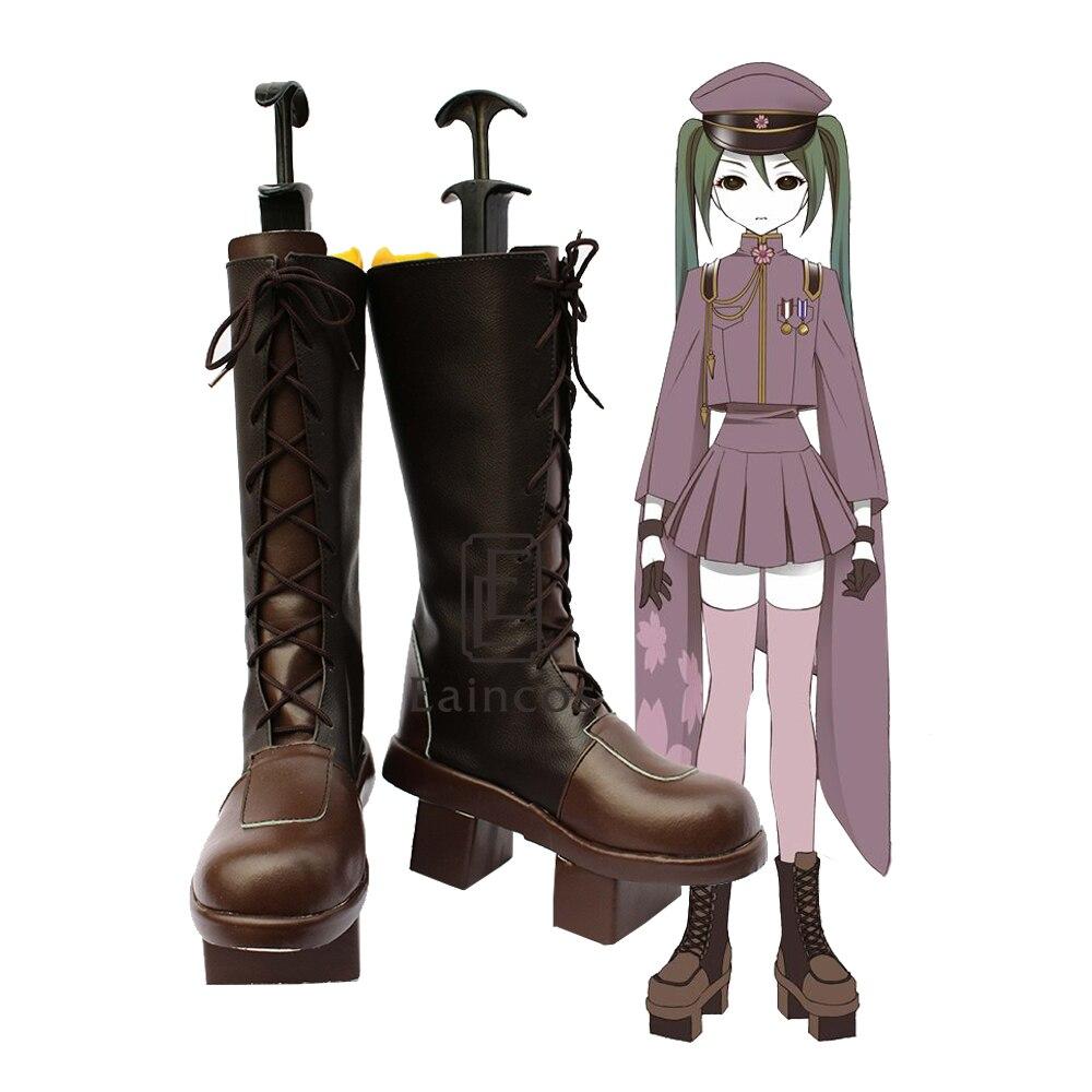 Vocaloid Hatsune Miku Senbonzakura Cosplay chaussures bottes fantaisie sur mesure