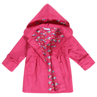New Brand Girls Clothes 2016 Children Baby Girl Clothing Spring Autumn Kids Coat Jacket Waterproof Hooded